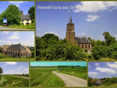 Heesselt, collage van dorpsgezichten (© Jan Dijkstra, Houten)