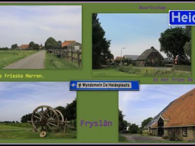 Heide, collage van buurtschapsgezichten (© Jan Dijkstra, Houten)
