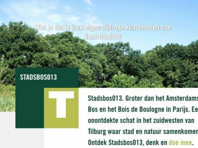 Het 1.400 hectare grote groene buitengebied in het ZW van Tilburg, met daarin o.a. de buurtschap Heikant, staat sinds 2014 bekend als Stadsbos013. Inwoners worden uitgenodigd om mee te denken over een creatieve invulling van het gebied.