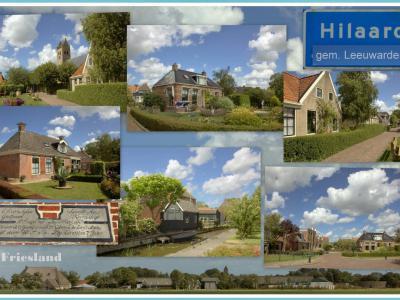 Hilaard, collage van dorpsgezichten (© Jan Dijkstra, Houten)