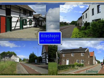 Hilleshagen, collage van buurtschapsgezichten (© Jan Dijkstra, Houten)