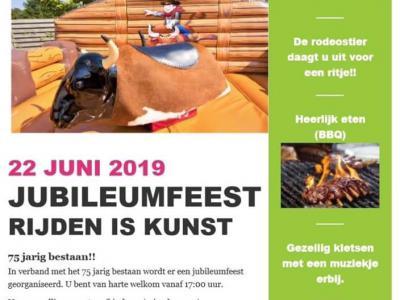 Rijvereniging en paardenclub RV en PC Rijden Is Kunst (RIK) ligt nét buiten de kern van de grote stad Zwolle, in de landelijk gelegen buurtschap Hoog Zuthem. De vereniging is opgericht in 1944 en heeft dus in 2019 het 75-jarig bestaan gevierd.