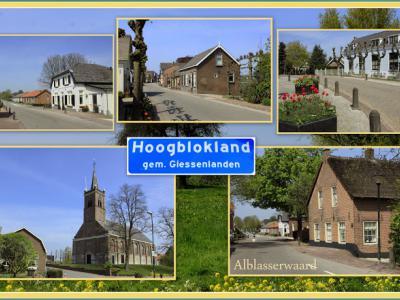 Hoogblokland, collage van dorpsgezichten (© Jan Dijkstra, Houten)