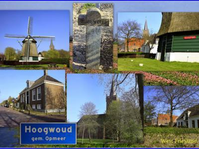 Hoogwoud, collage van dorpsgezichten (© Jan Dijkstra, Houten)