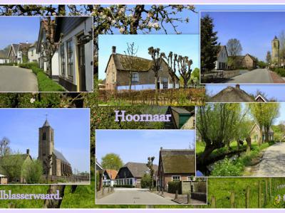 Hoornaar, collage van dorpsgezichten (© Jan Dijkstra, Houten)