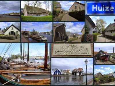 Huizen, collage van dorpsgezichten (© Jan Dijkstra, Houten)