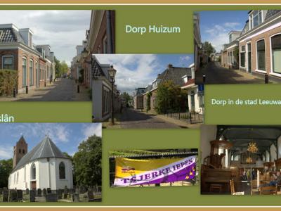 Huizum, collage van dorpsgezichten (© Jan Dijkstra, Houten)
