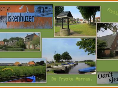 Idskenhuizen, collage van dorpsgezichten (© Jan Dijkstra, Houten)
