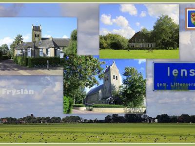 Iens, collage van dorpsgezichten (© Jan Dijkstra, Houten)