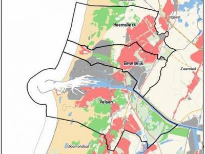 De regio IJmond omvat tegenwoordig de gemeenten Beverwijk, Heemskerk en Velsen. In de loop der jaren hebben er ook andere, omliggende gemeenten onder gevallen. (© www.noord-holland.nl)