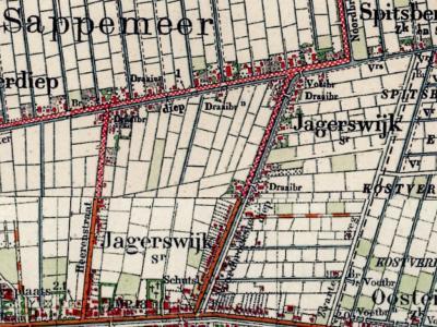 Jagerswijk is een buurtschap in de provincie Groningen, gemeente Midden-Groningen. T/m 31-3-1949 gemeente Sappemeer. Per 1-4-1949 over naar gemeente Hoogezand-Sappemeer, in 2018 over naar gemeente Midden-Groningen. (© www.kadaster.nl)