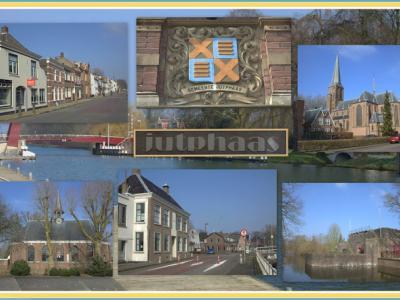 Jutphaas, collage van gezichten van het 'dorp in de stad' (© Jan Dijkstra, Houten)