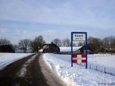 Keent is een prachtige, zeer landelijk gelegen buurtschap en aan te bevelen om eens te bezoeken. Sinds 2017 is Keent een formele woonplaats in het postcodeboek, in de praktijk is het een buurtschap van het dorp Overlangel. Foto: Keent in jan. 2009.