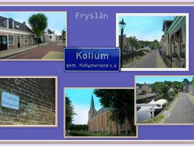 Kollum, collage van dorpsgezichten (© Jan Dijkstra, Houten)