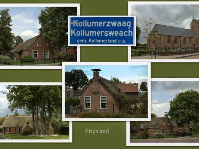 Kollumerzwaag, collage van dorpsgezichten (© Jan Dijkstra, Houten)