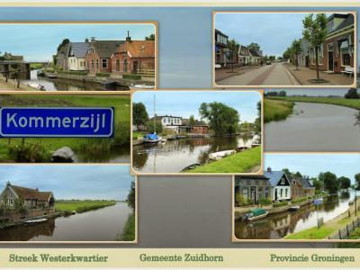 Kommerzijl, collage van dorpsgezichten (© Jan Dijkstra, Houten)