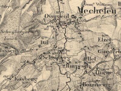 De Mechelse buurtschap Kosberg komt in ieder geval sinds halverwege de 19e eeuw op kaarten voor. Toch wordt de buurtschap 'doodgezwegen'; geen plaatsnaambordjes ter plekke, en op het hele internet is er niets inhoudelijks over te vinden. Beetje jammer...