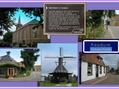 Koudum, collage van dorpsgezichten (© Jan Dijkstra, Houten)