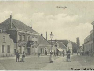 Kruiningen, dorpsgezicht, 1915