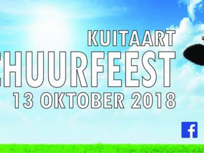 Tijdens het jaarlijkse Schuurfeest in Kuitaart (op een zaterdag in oktober) gaat het dak er (figuurlijk) af