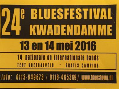 Kwadendamme is bij bluesliefhebbers bekend van het jaarlijkse Bluesfestival in mei, in 2016 alweer voor de 24e keer. Met op zondag een Bluesviering in de kerk! En op de zaterdag voor het kerstweekend is er ook nog het Kwadendamme Indoor Bluesfestival.