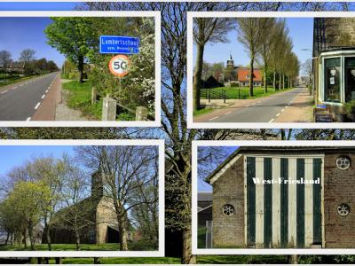 Lambertschaag, collage van dorpsgezichten (© Jan Dijkstra, Houten)