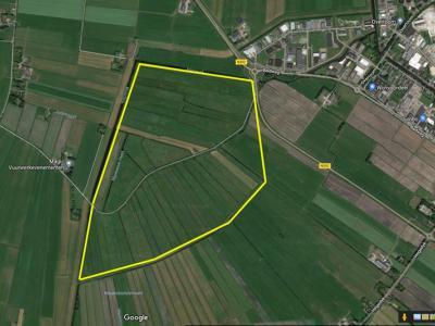 Nu er niet meer vroegtijdig wordt gemaaid, is het gebied rond het O deel van de weg Alde Ie NO van Langezwaag een prachtig stuk 'fûgeltsjelân' (vogeltjesland) geworden, zoals ze dat in Fryslân noemen. Hier zie je welk gebied het betreft. (© www.afanja.nl)