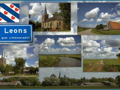 Leons, collage van dorpsgezichten (© Jan Dijkstra, Houten)