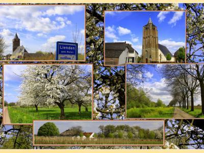 Lienden, collage van dorpsgezichten (© Jan Dijkstra, Houten)