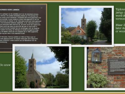 Limmen, collage van de Hervormde (PKN) kerk (© Jan Dijkstra, Houten)