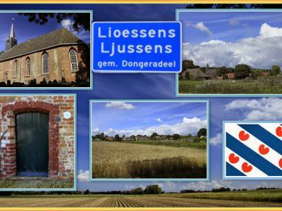 Lioessens, collage van dorpsgezichten (© Jan Dijkstra, Houten)