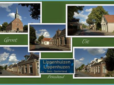 Lippenhuizen, collage van dorpsgezichten (© Jan Dijkstra, Houten)