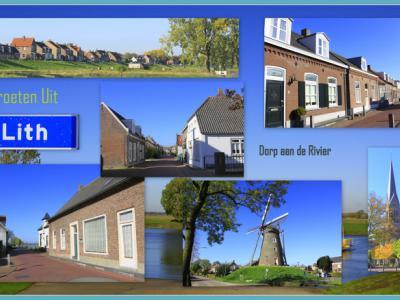 Lith, collage van dorpsgezichten (© Jan Dijkstra, Houten)