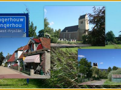 Longerhouw, collage van dorpsgezichten (© Jan Dijkstra, Houten)