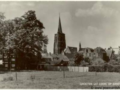 Loon op Zand, Groeten uit met kerk, 1975