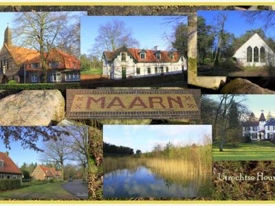 Maarn, collage van dorpsgezichten (© Jan Dijkstra, Houten)