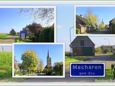 Macharen, collage van dorpsgezichten (© Jan Dijkstra, Houten)