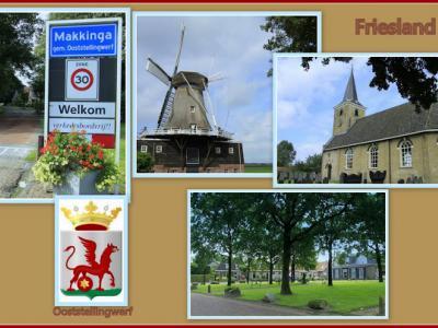 Makkinga, collage van dorpsgezichten (© Jan Dijkstra, Houten)