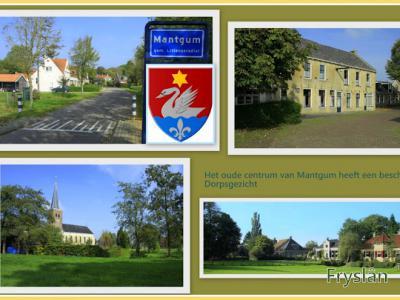 Mantgum, collage van dorpsgezichten (© Jan Dijkstra, Houten)