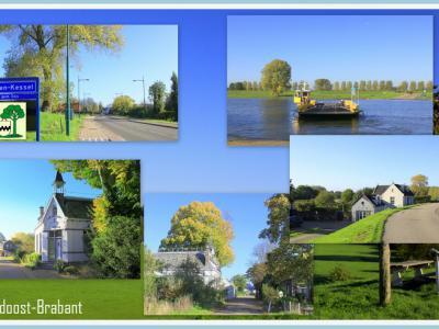 Maren-Kessel, collage van dorpsgezichten (© Jan Dijkstra, Houten)