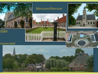 Marsum, collage van dorpsgezichten (© Jan Dijkstra, Houten)