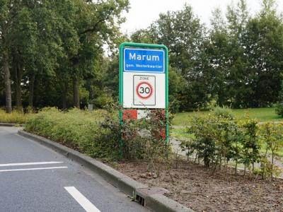 Marum is een dorp in de provincie Groningen, in de streek en gemeente Westerkwartier. Het was een zelfstandige gemeente t/m 2018. (© H.W. Fluks)