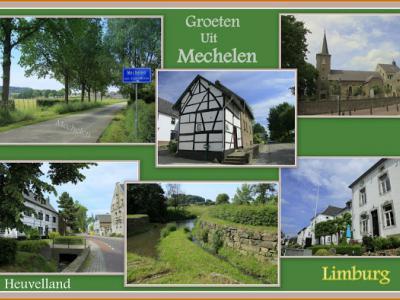 Mechelen, collage van dorpsgezichten (© Jan Dijkstra, Houten)
