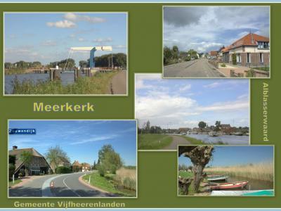 Meerkerk is een dorp in de provincie Utrecht, in grotendeels de streek Alblasserwaard. Het was een zelfstandige gem. t/m 1985. In 1986 over naar gem. Zederik, in 2019 over naar gem. Vijfheerenlanden. (© Jan Dijkstra, Houten)