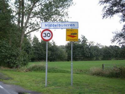 Middelbuorren is een buurtschap van het dorp Nijega in de gemeente Smallingerland (© H.W. Fluks)