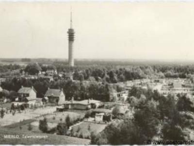 Mierlo, dorpsgezicht met televisietoren, 1964