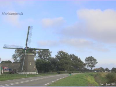 Dé blikvanger van buurtschap Moriaanshoofd is Korenmolen De Zwaan uit 1886 aan de Oude Hoofdweg