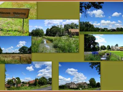 Nieuwe Wetering, collage van buurtschapsgezichten (© Jan Dijkstra, Houten)
