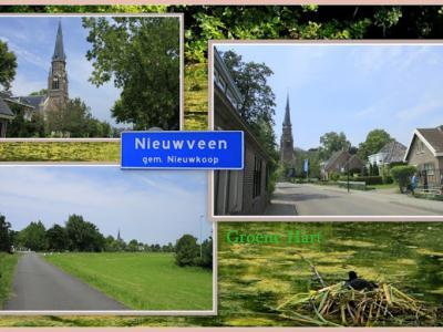 Nieuwveen, collage van dorpsgezichten (© Jan Dijkstra, Houten)