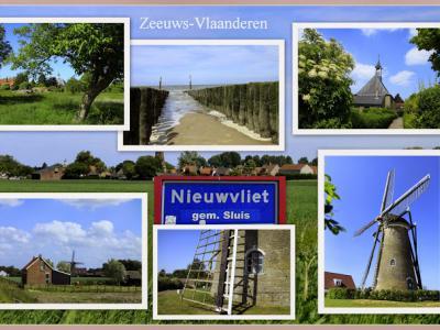 Nieuwvliet, collage van dorpsgezichten (© Jan Dijkstra, Houten)